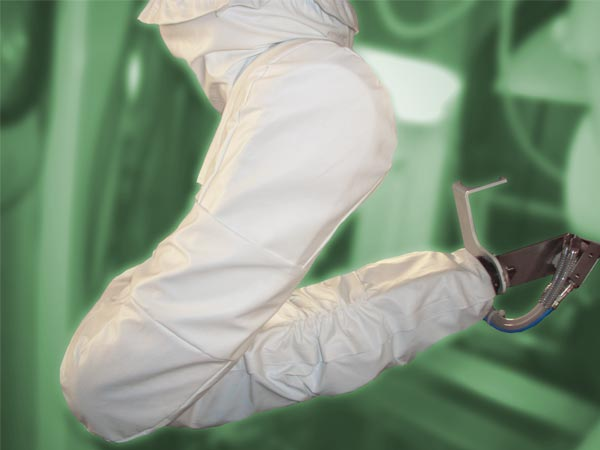 Roboterschutzanzug, beschichtetes Gewebe, 4 teilig, enge Paßform